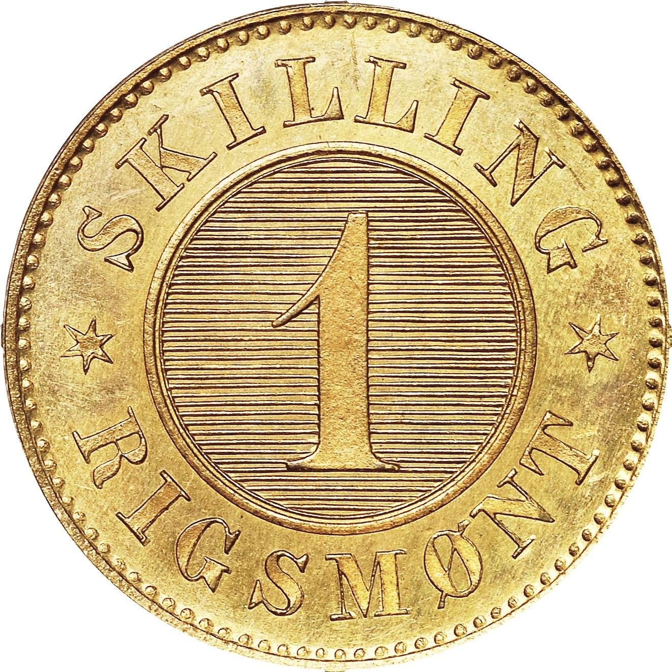 Denmark 1 Skilling Rigsmønt (1867-1872 Christian IX)