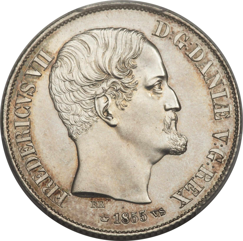 Denmark 1 Rigsdaler (1854-1855 Frederik VII)