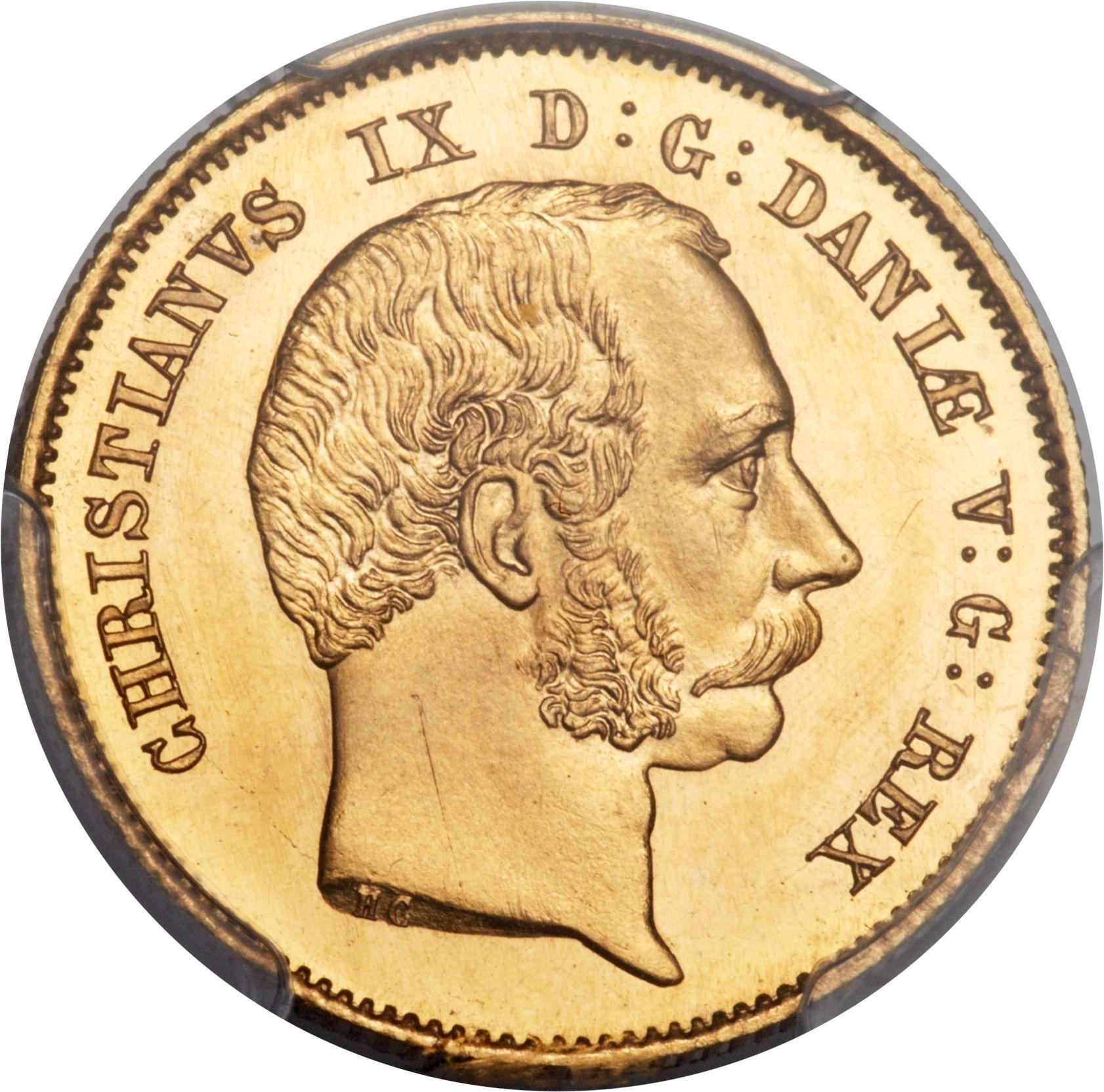 Denmark 1 Christians d'Or (1864 Christian IX)