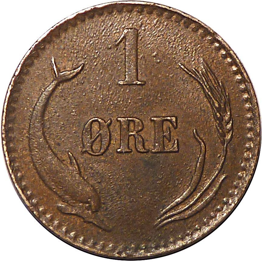 Denmark 1 Øre  (1874-1904 Christian IX)