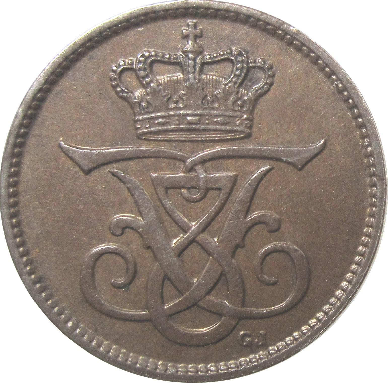 Denmark 1 Øre  (1907-1912 Frederik VIII)
