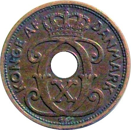 Denmark 1 Øre  (1926-1940 Christian X)