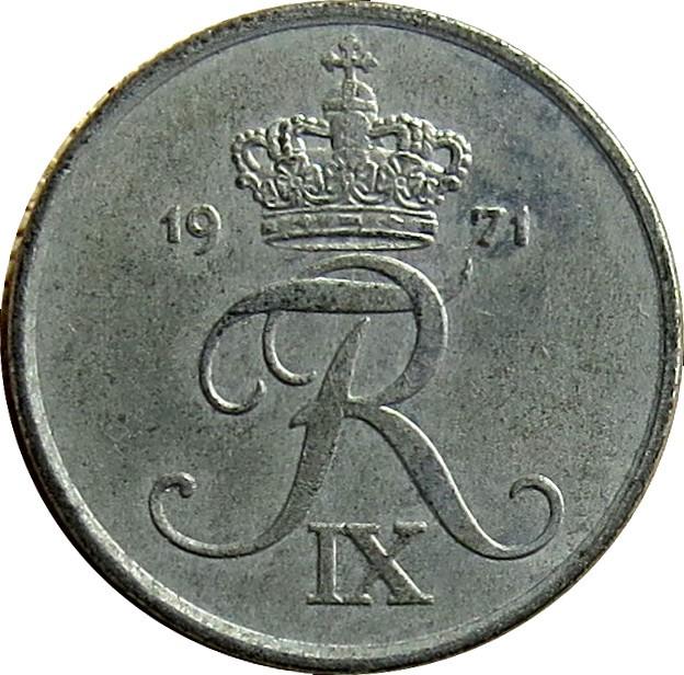 Denmark 1 Øre  (1948-1972 Frederik IX)