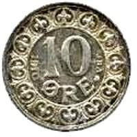 Denmark 10 Øre (1907-1912 Frederik VIII)