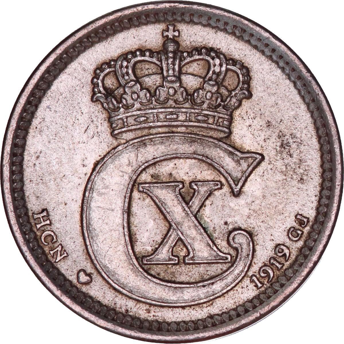 Denmark 10 Øre (1914-1919 Christian X)