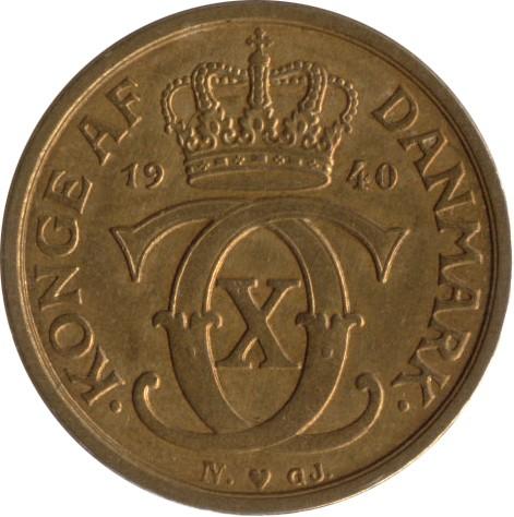Denmark ½ Krone (1924-1940 Christian X)