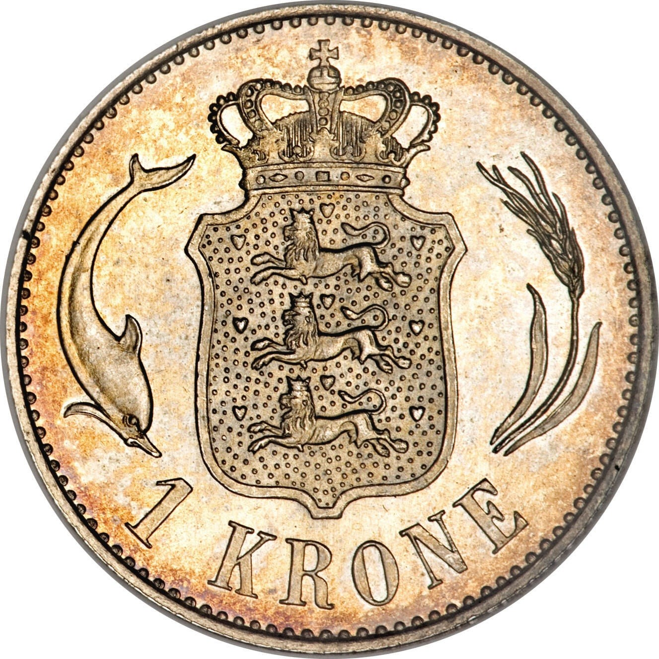 Denmark 1 Krone (1875-1898 Christian IX)