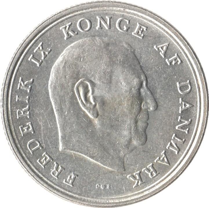 Denmark 1 Krone (1960-1972 Frederik IX)