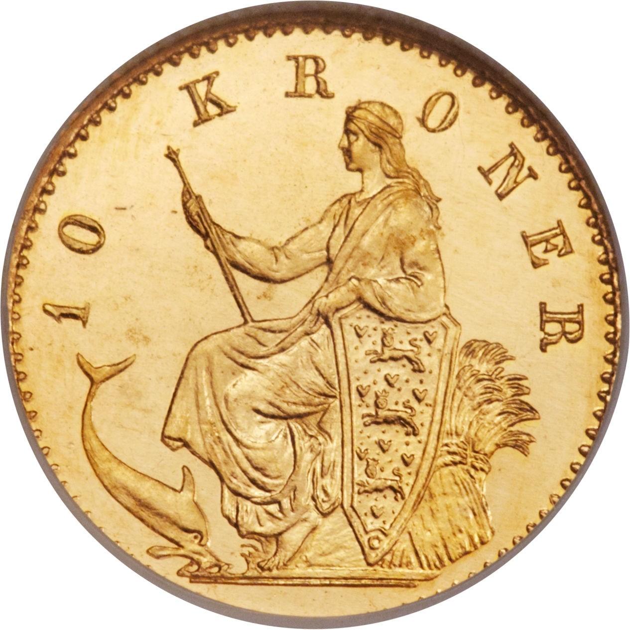 Denmark 10 Kroner (1873-1900 Christian IX)