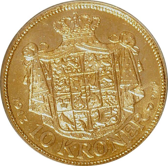 Denmark 10 Kroner (1913-1917 Christian X)
