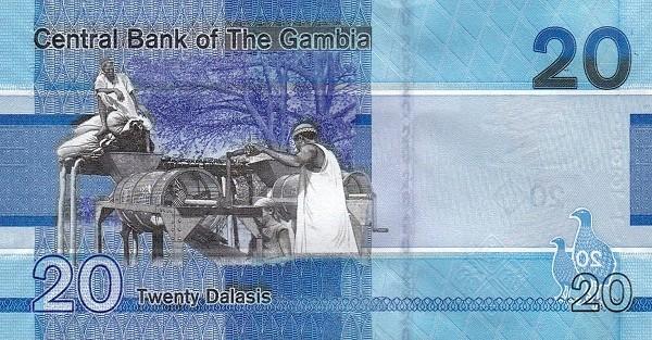 Gambia 20 Dalasis